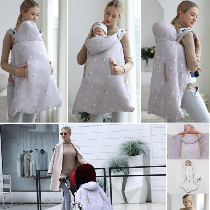 Winter Baby Sling Cover Outdoor Thicken Lengthen Cloak  Waterproof Windproof wrap Sleeping Carrier