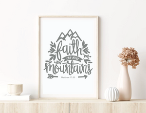 """Move Mountains"" Bible Print A3"
