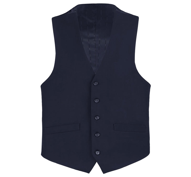 508-2 Men's Wool Suit Vest Regular Fit Dress Suit Waistcoat