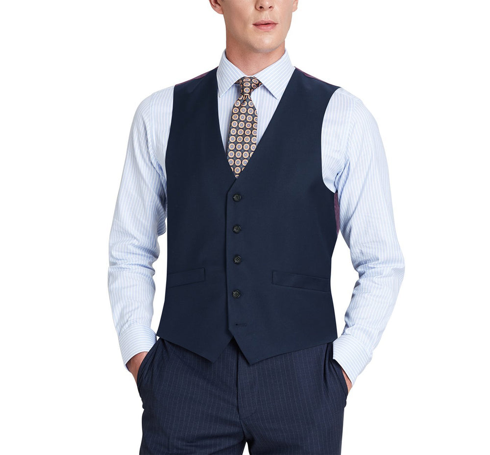 508-19 Men's Wool Suit Vest Regular Fit Dress Suit Waistcoat