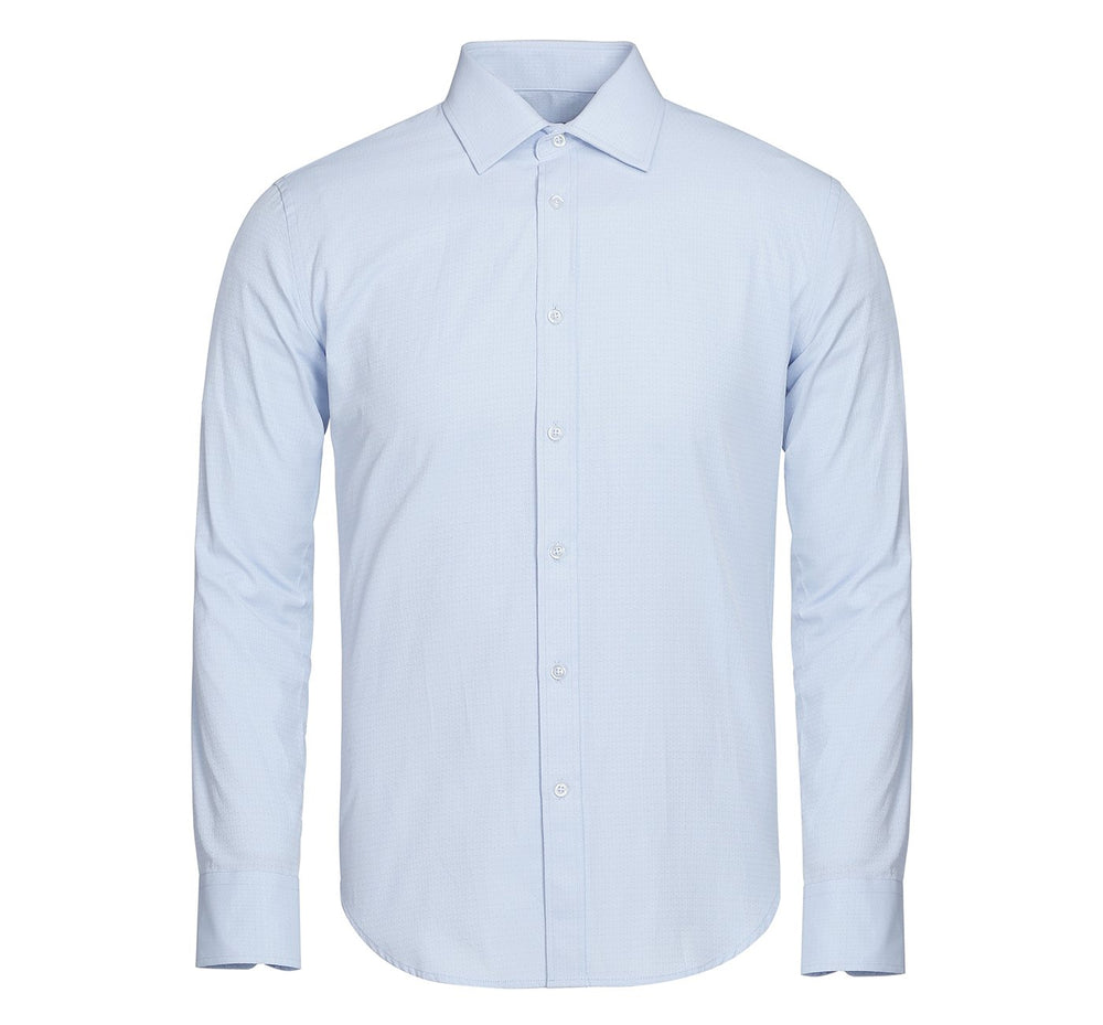 TC0871-2 Men's Slim Fit Long Sleeves Solid Dobby Dress Shirt