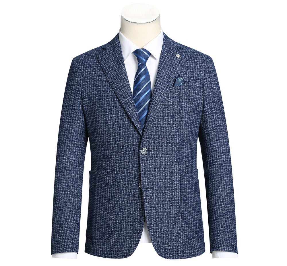 PF20-6 Pelago Men's Blazer Slim Fit Half Canvas Navy Sport Coat