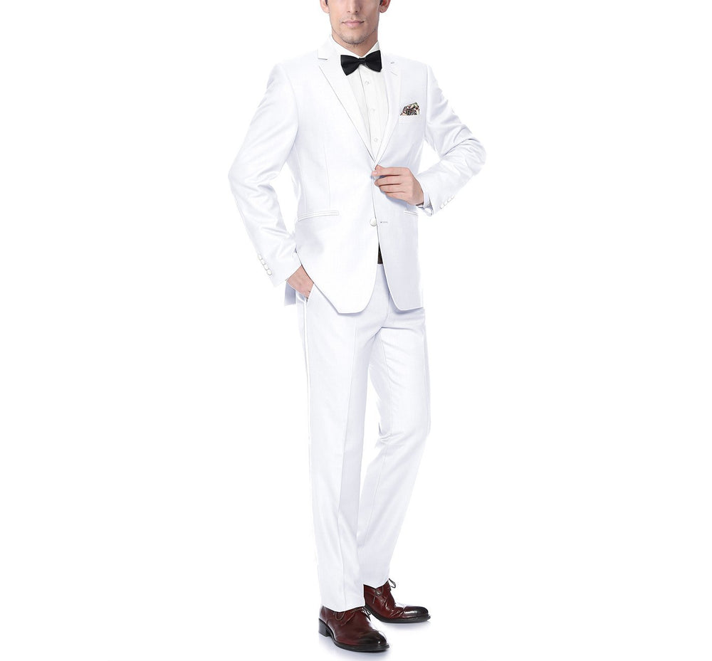 RI201-6 Men's Satin Notched Lapel 2-Piece Tuxedo Suit