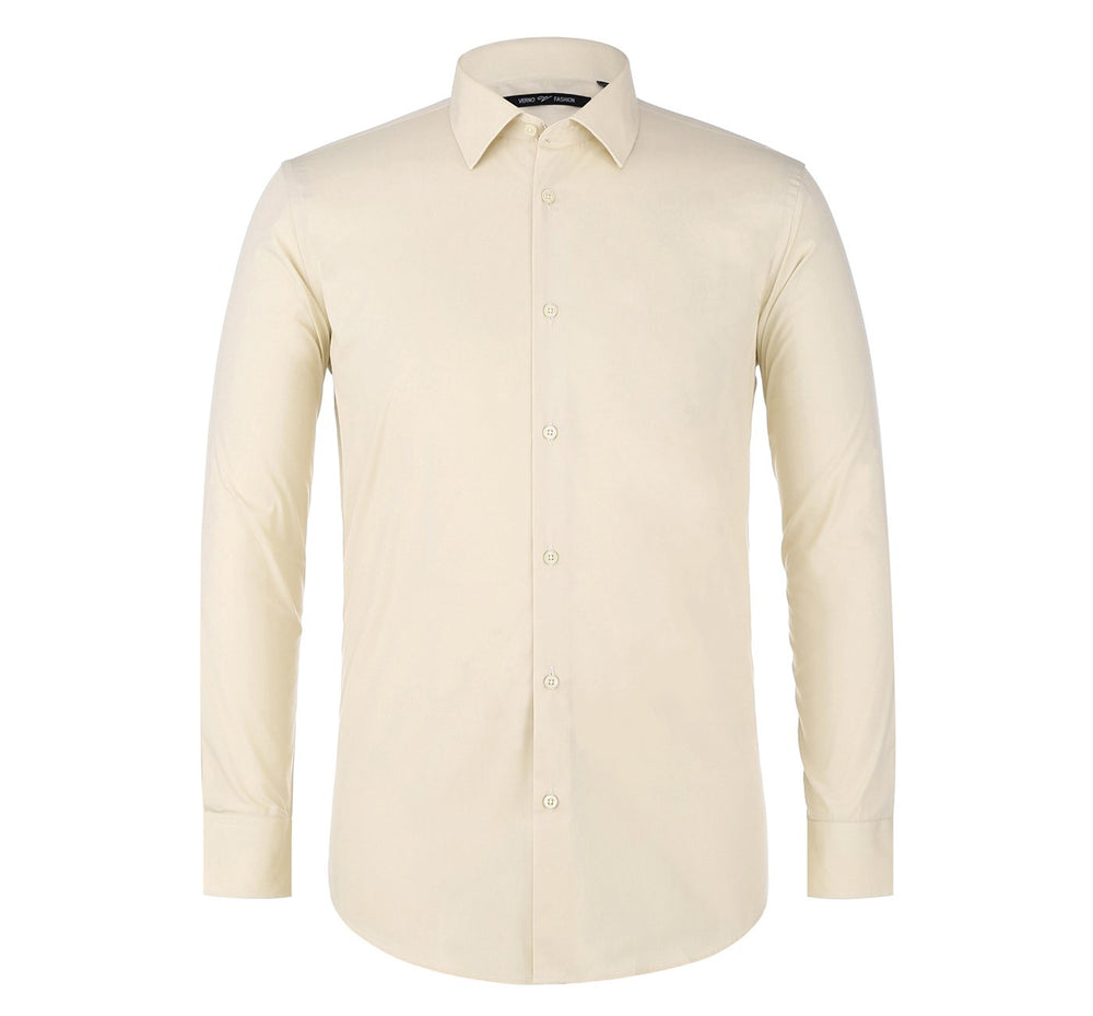 TC23 Men's Classic/Regular Fit Long Sleeve Spread Collar Dress Shirt