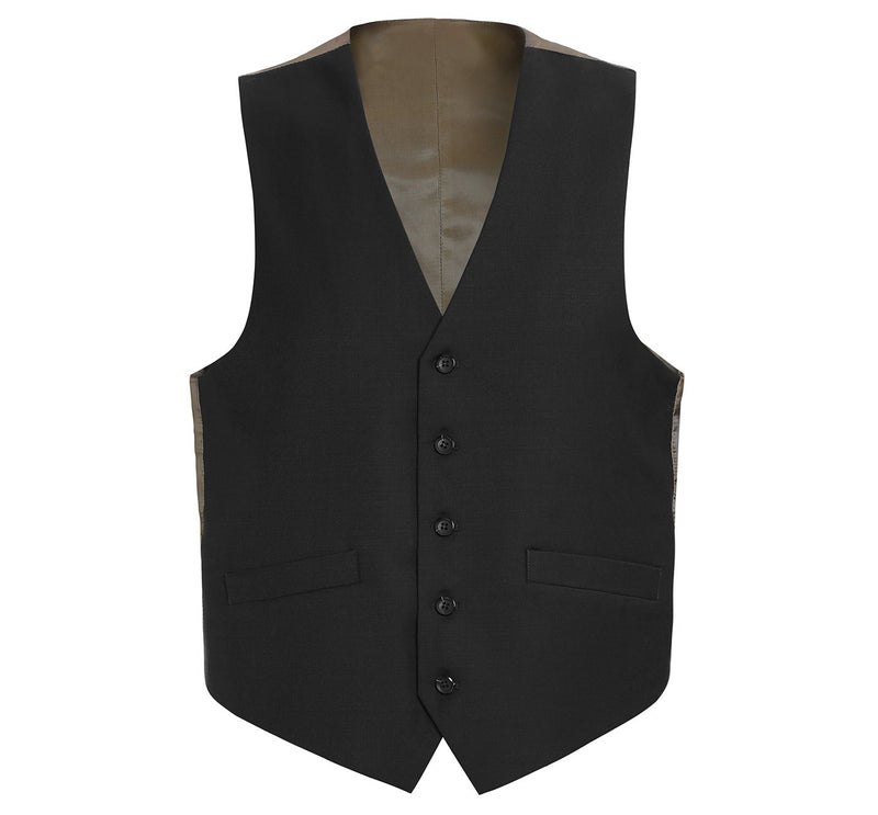 508-1 Men's Wool Suit Vest Regular Fit Dress Suit Waistcoat