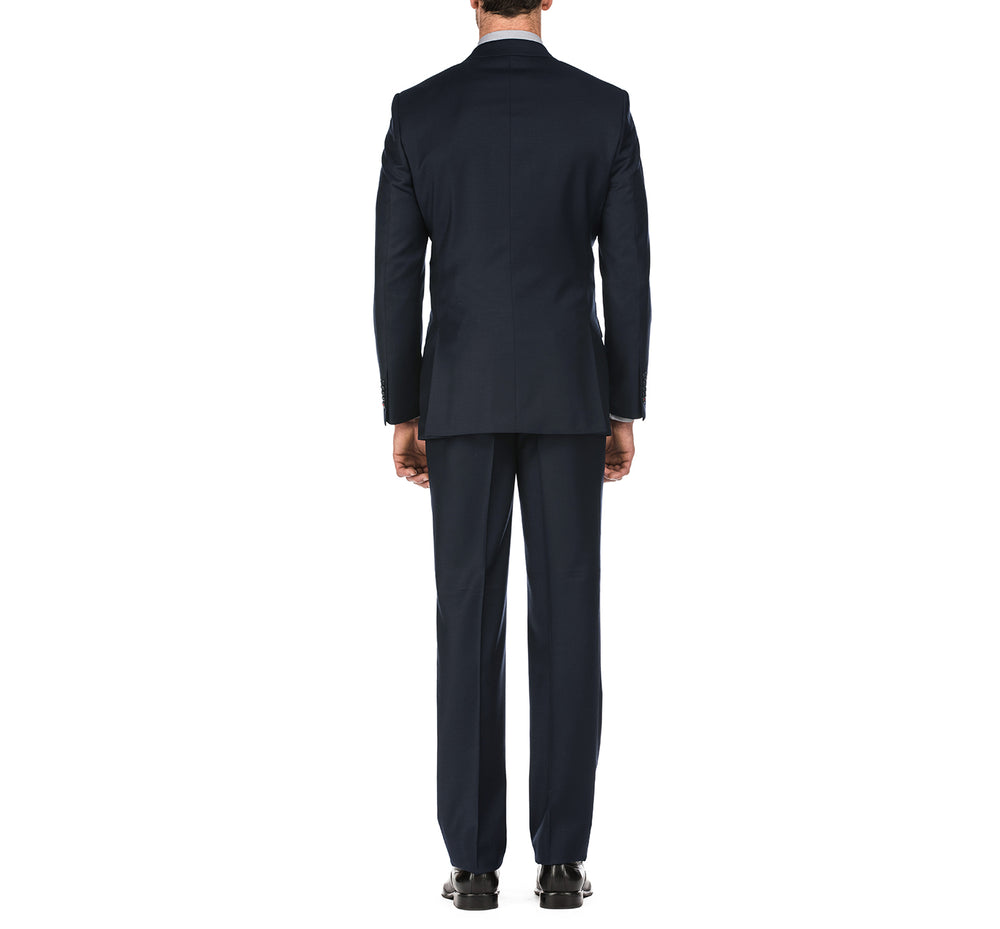 English Laundry02-01-410 Men's Slim Fit Two Button Solid Wool Suit