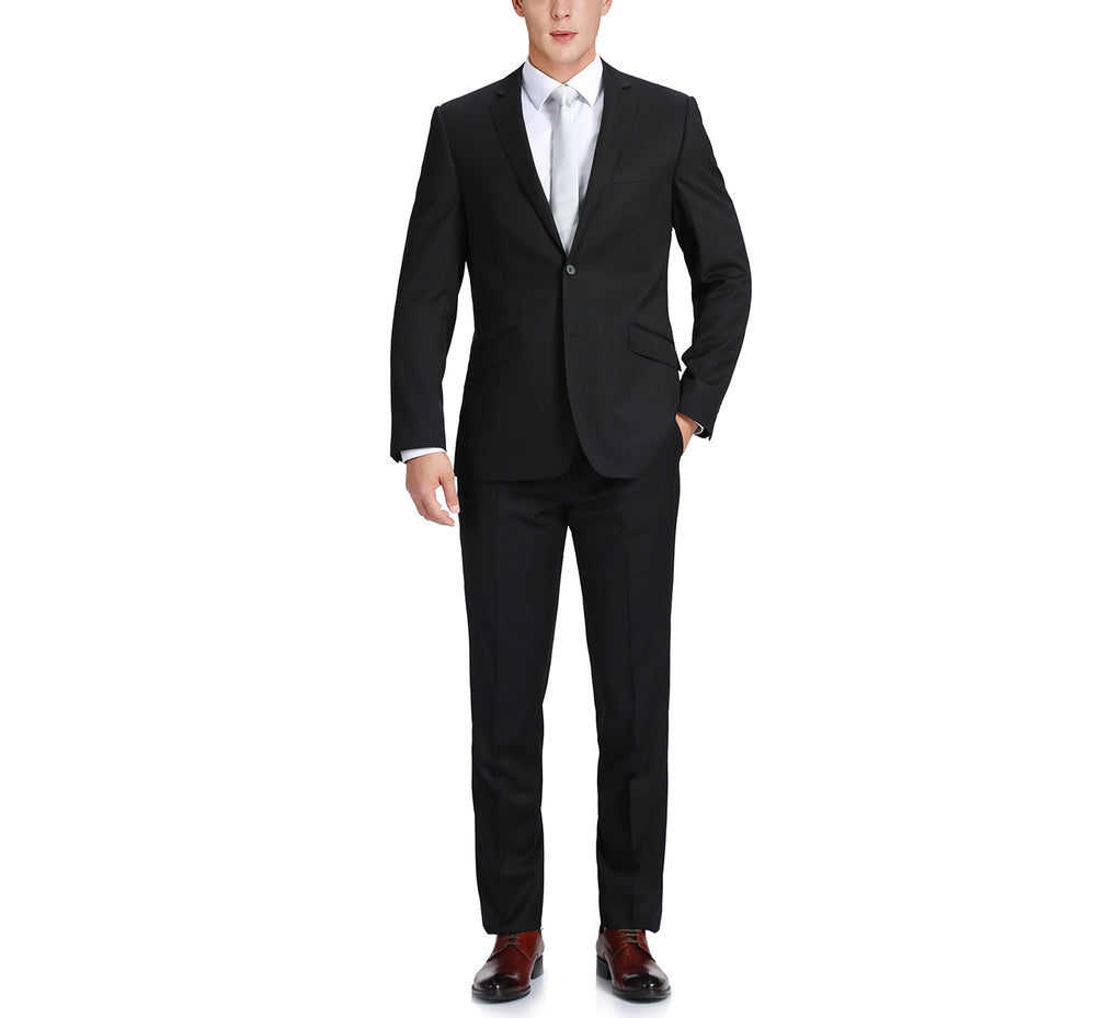555-1 Men's Slim Fit Suit in Virgin Wool with Nano Tech