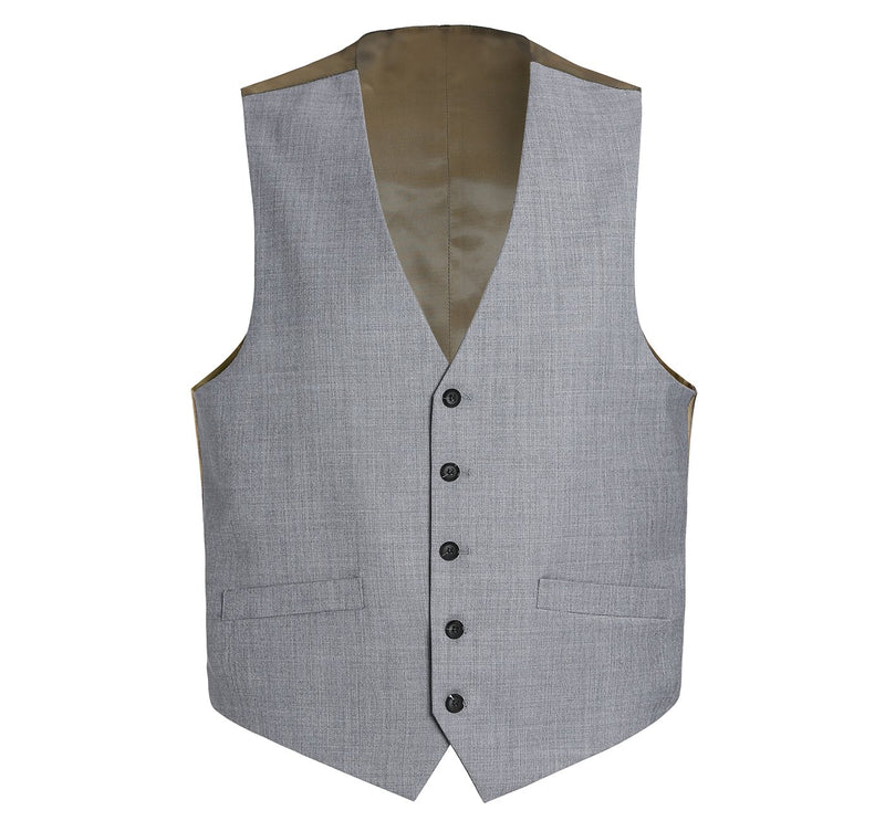 508-5 Men's Wool Suit Vest Regular Fit Dress Suit Waistcoat