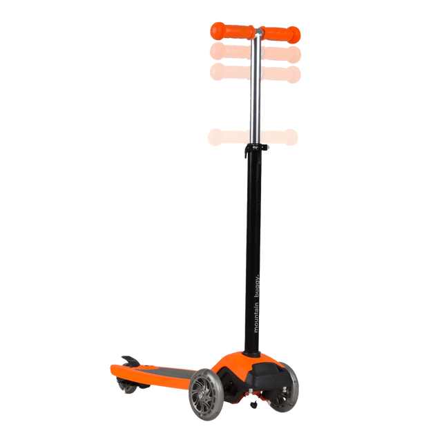 mountain buggy freerider scooter has adjustable handle_orange