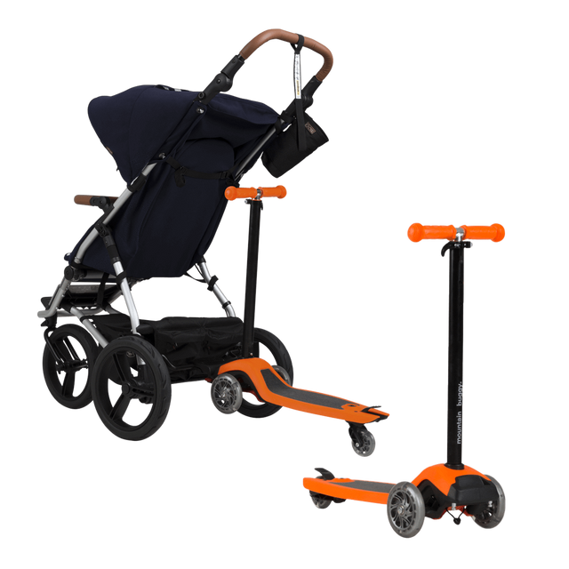 mountain buggy freerider el scooter de color naranja se convierte en un buggy board_orange