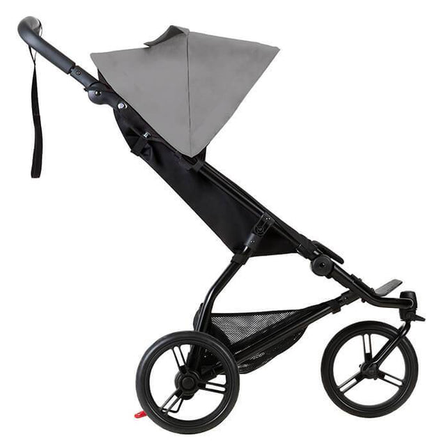 Mountain Buggy mini stroller in silver colour side view_silver