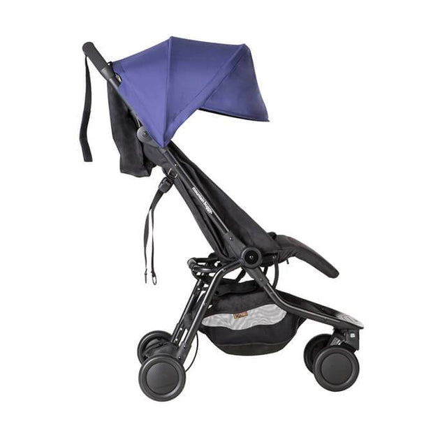 mountain buggy nano  travel buggy in nautical blue color side view _nautical-blue