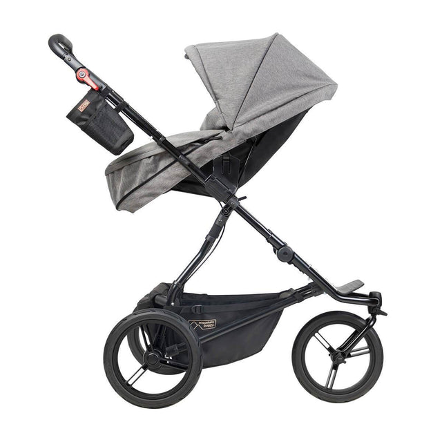 Mountain Buggy urban jungle luxury collection stroller with carrycot plus in parent facing mode in herringbone colour_herringbone