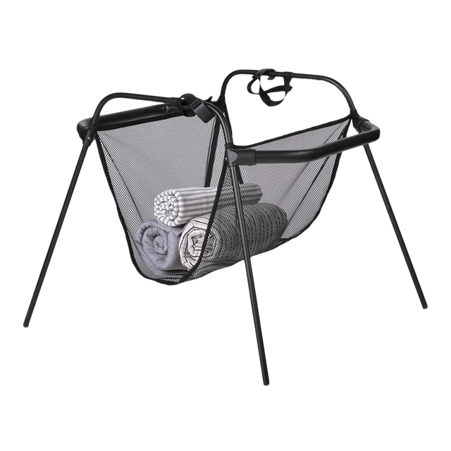mountain buggy carrycot stand pour carrycot plus et nouveau-né cocon 3/4 view_black