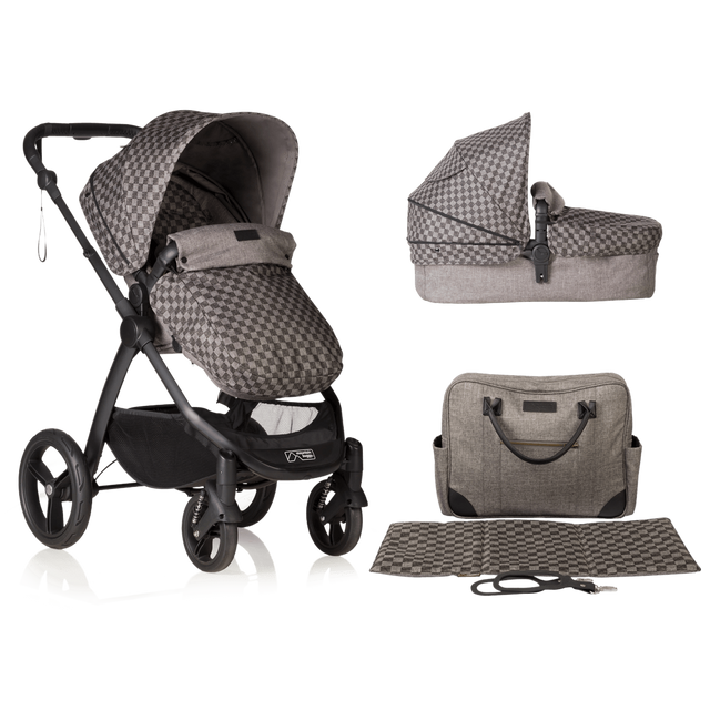 Mountain buggy cosmopolitan luxury modular buggy with carrycot and matching satchel bag in colour geo_geo