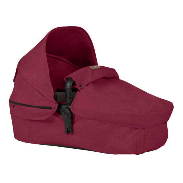 Mountain Buggy cosmopolitan larger size carrycot in colour bordeaux_bordeaux