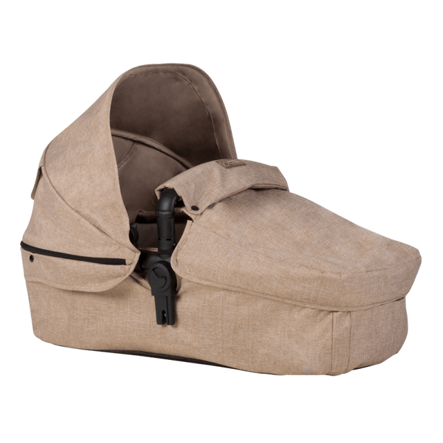 Mountain Buggy cosmopolitan larger size carrycot in colour mocha_mocha