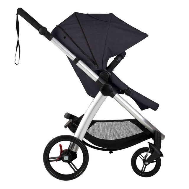 Mountain Buggy cosmopolitan 4 wheel modular buggy in with extended hood in colour ink_ink