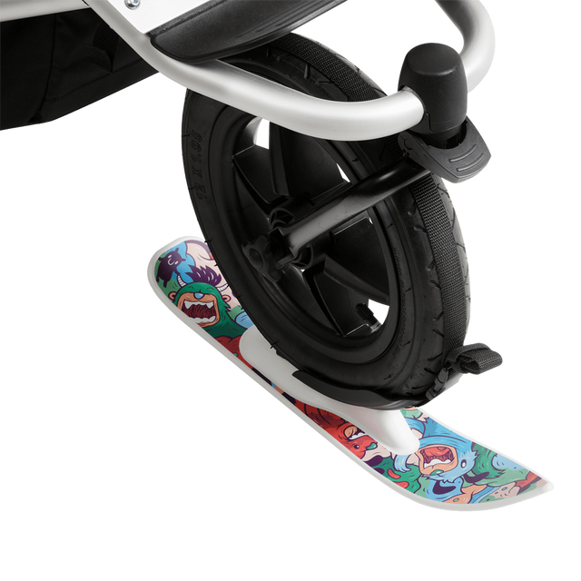 Mountain Buggy winter ski fitted on wheel _white