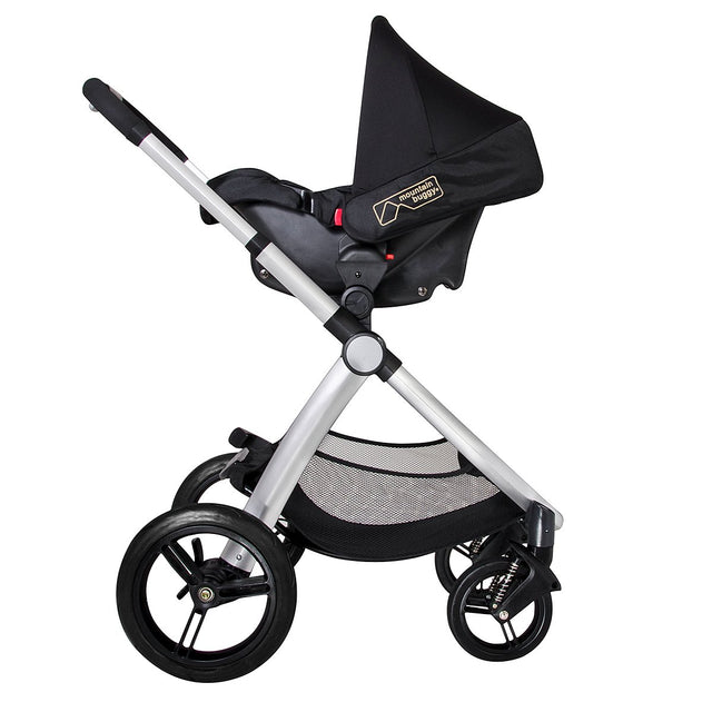 Mountain Buggy pre-2017 cosmopolitan buggy with protect car seat side view_chilli