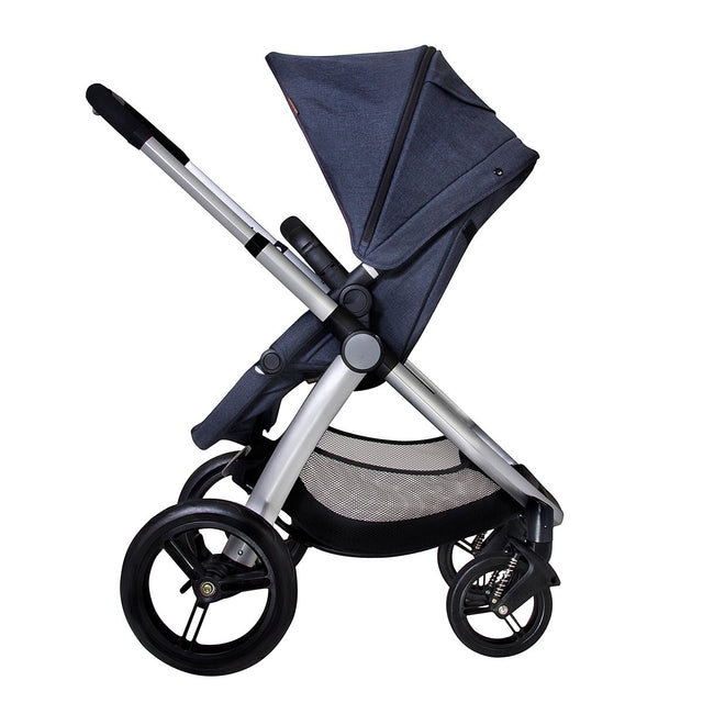 Mountain Buggy pre-2017 cosmopolitan buggy in parent facing position side view_chilli