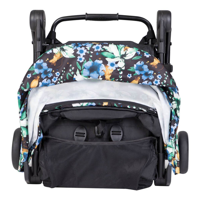 mountain buggy nano  travel buggy in year of rat color a compact fold for airplane carry on side view_year of rat