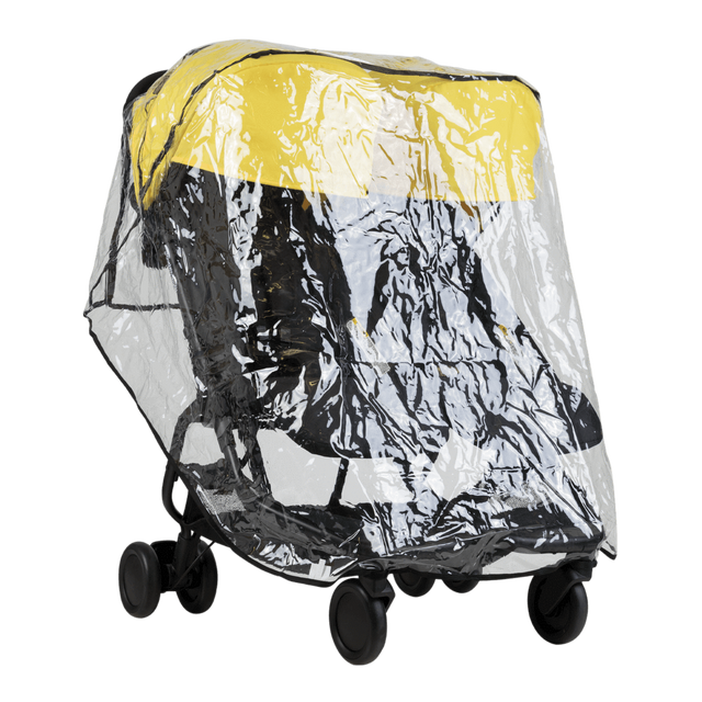Mountain Buggy nano duo fitted with double storm cover_default