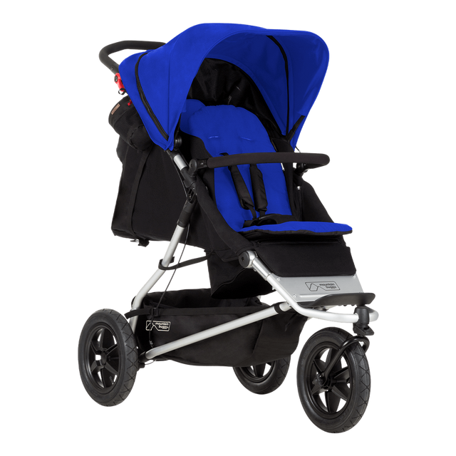 Mountain Buggy +one stroller in marine blue colour can a newborn and toddler at the same time_marine
