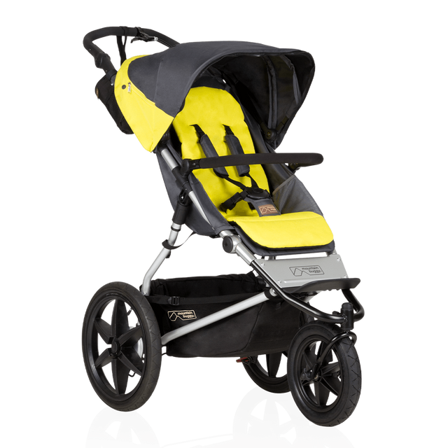 Mountain Buggy terrain stroller in yellow and black solus colour_solus