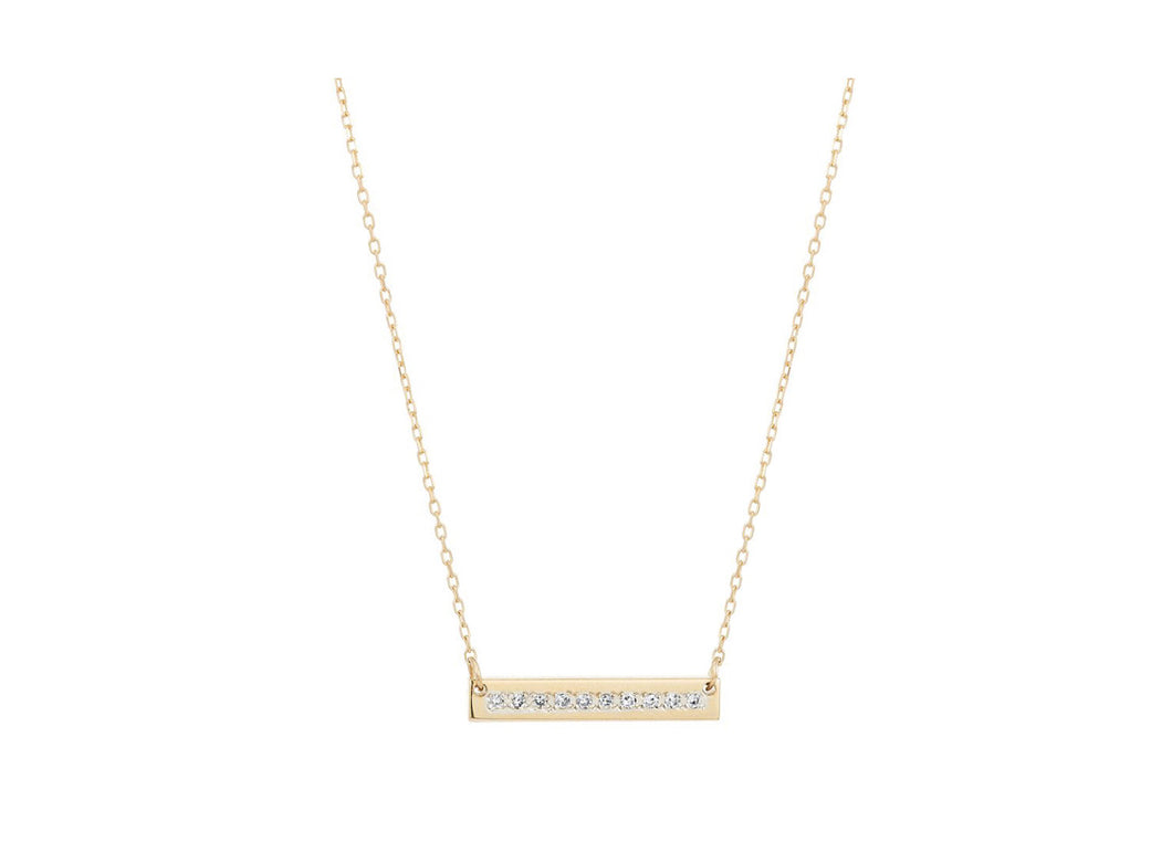 Adina Reyter Pavé Super Tiny Rectangle Necklace