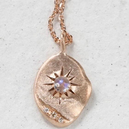 Sirciam Moonstone Star Plate Necklace