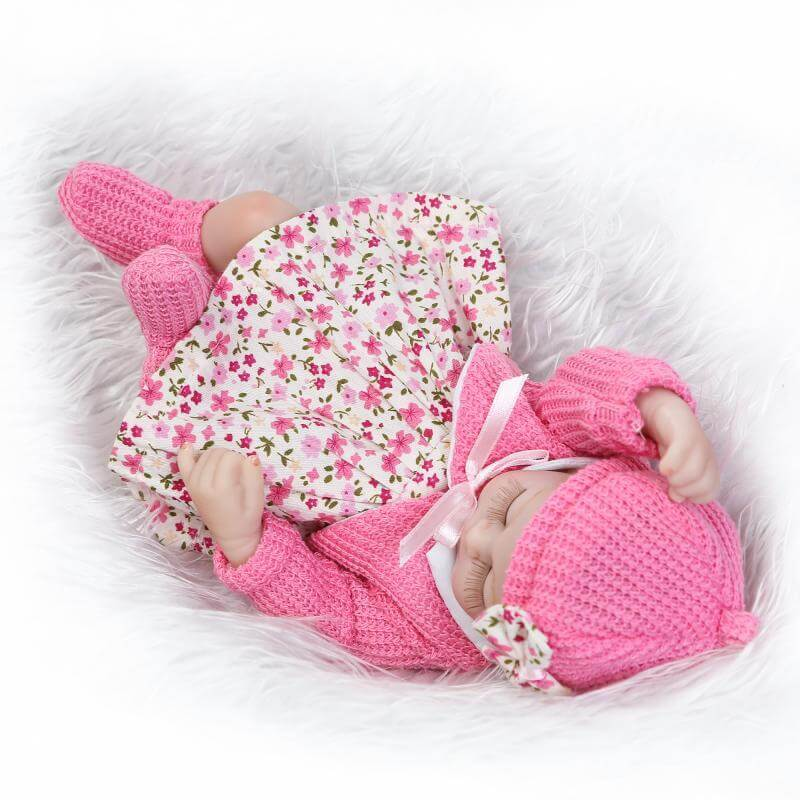 12'' miniature preemie newborn baby doll soft silicone vinyl toys for kids playmates