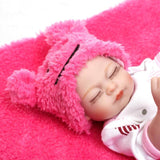 10''Soft silicone reborn twins babies lifelike mini newborn girl