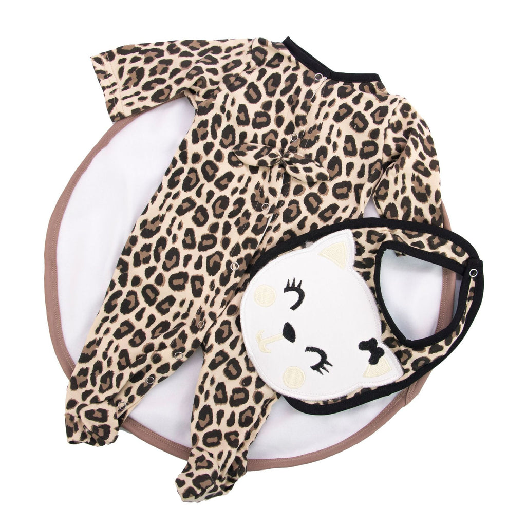 Reborn Doll Accessories 22-inch Leopard Print Tien 3-piece Set