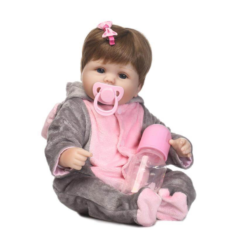 16'' cute reborn baby doll soft real touch silicone vinyl doll lovely baby best toys and gift for children