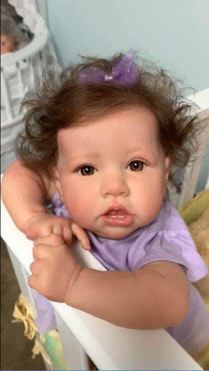 22'' Little Sylvie Reborn Baby Doll Girl 22 inch cloth body full silicone girl So Real Doll