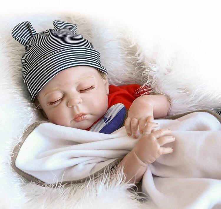 20''premie bebes Reborn Dolls Realistic newborn baby Doll soft full body silicone Boneca Doll  doll Christmas Surprice