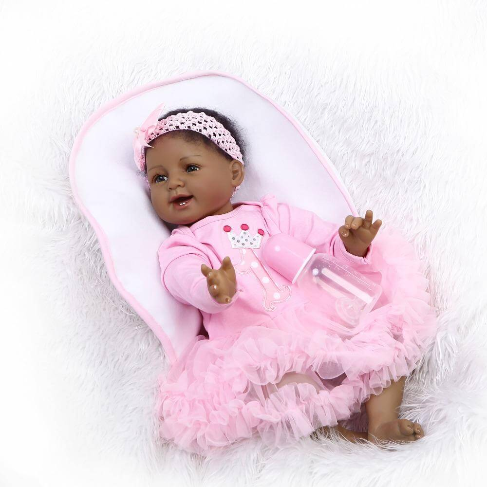 22''Handmade Soft Silicone Reborn Dolls Lifelike Vinyl Simulation Newborn Baby Princess Doll Toys for Children Birthday