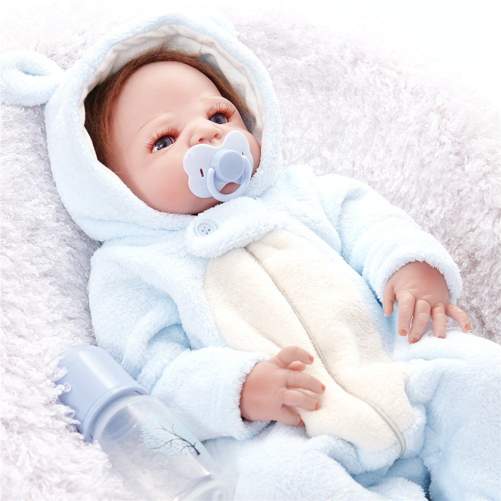 24'' Bulgy-cheeked Real Doll Baby in Blue