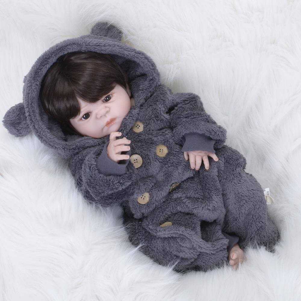 24''Huggable Lifelike Baby Boy Doll