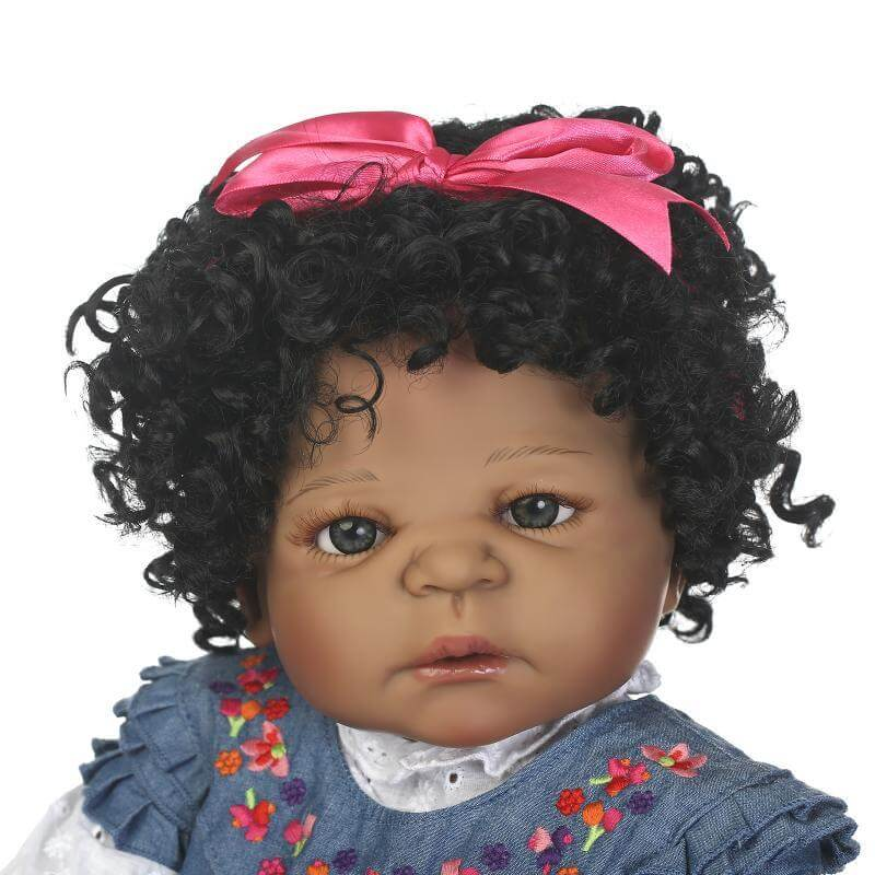22''popular gifts simulation reborn baby can enter the water African American