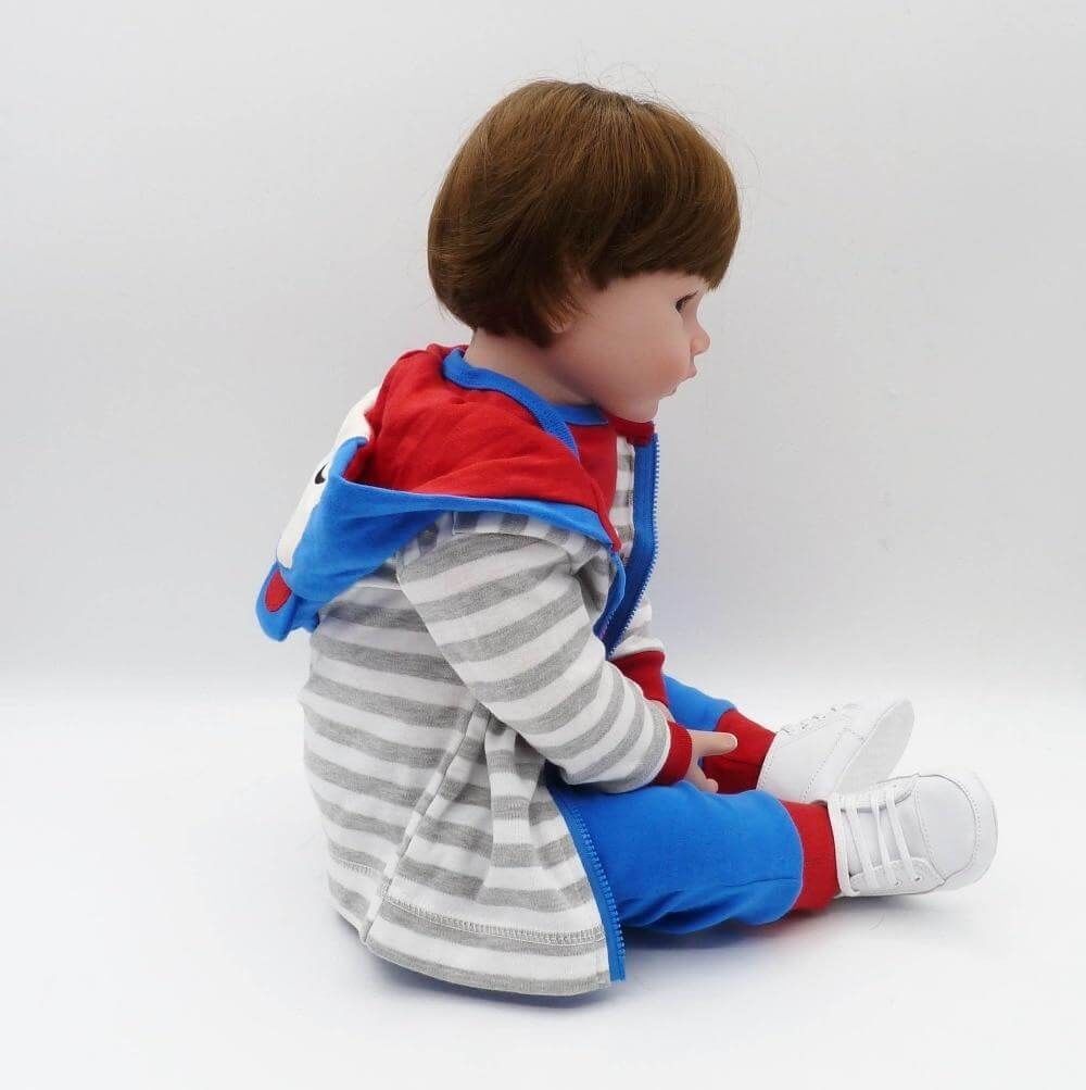 reborn toddler boy 47cm Soft Silicone bebe Doll Reborn Baby Toy