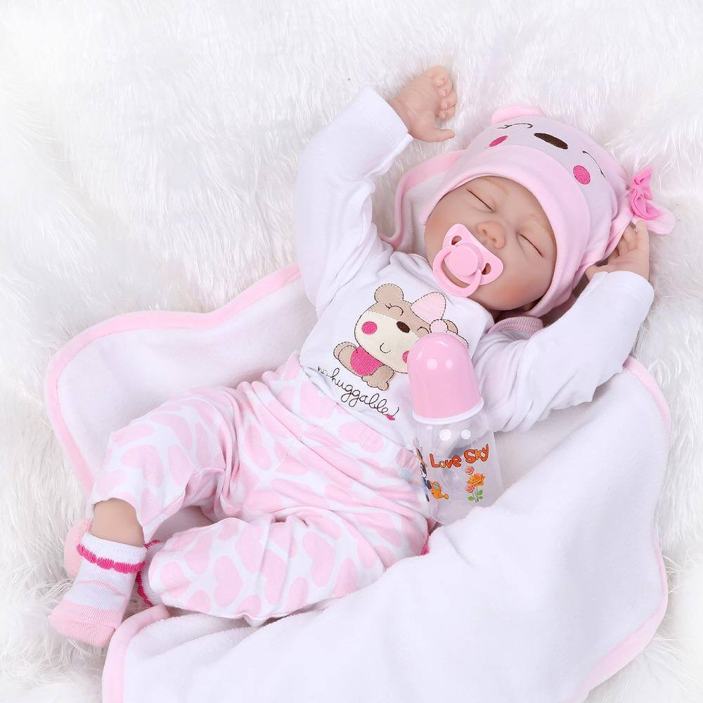 16'' Reborn baby doll children playmate doll soft real touch toys for gift on Birthday and Xmas