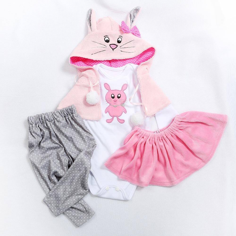 Doll Dress Fit For 17'' and 24'' Baby Doll  Babies Reborn