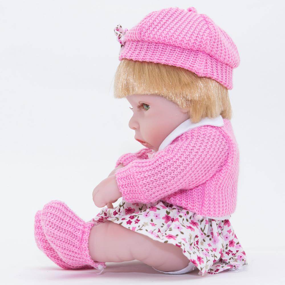 "10"" Full Vinyl Silicone Baby BOY/GIRL Dolls Blond"