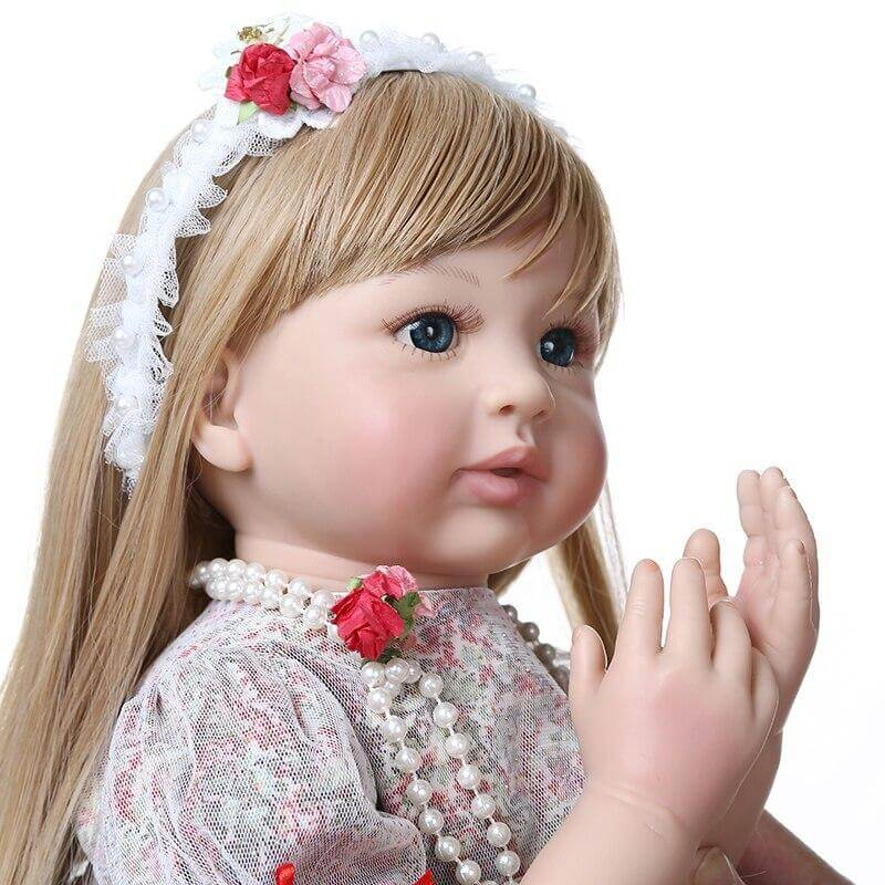24''high quality collectible doll princess reborn toddler girl dol