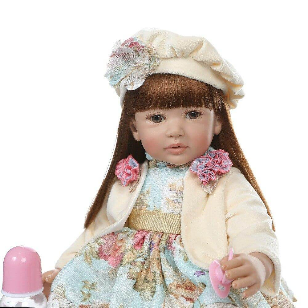 24'' reborn  toddler  girl lifelike bebe doll reborn