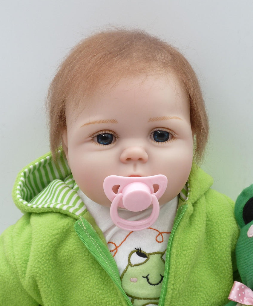 22''Silicone adora Lifelike Bonecas Baby newborn realistic magnetic pacifier bebes reborn dolls babies toy