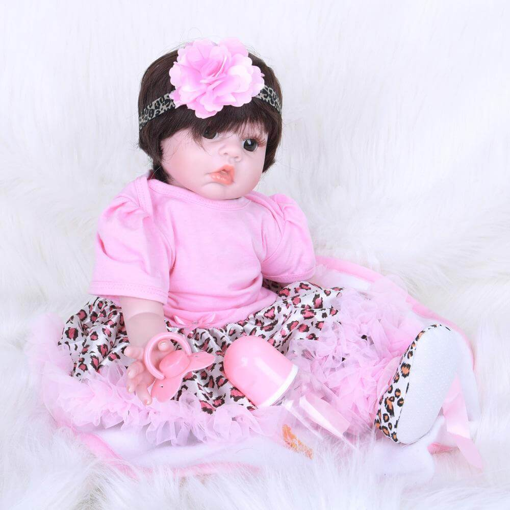 22''Big Eye Baby Girl Reborn Babies Toys Bath Playmate Gift
