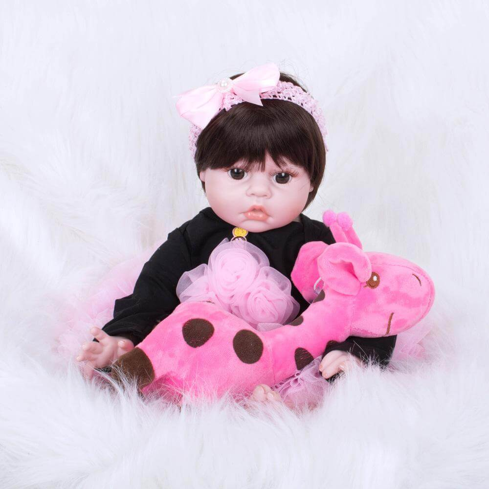 22''Sweetheart Realistic Babies With Pink giraffe